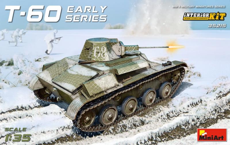 Советский легкий танк T-60, ранних выпусков MiniArt 35215