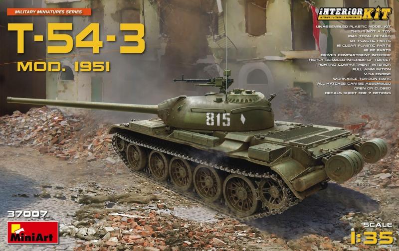 Советский средний танк T-54-3 с полным интерьером, 1951 г. MiniArt 37007