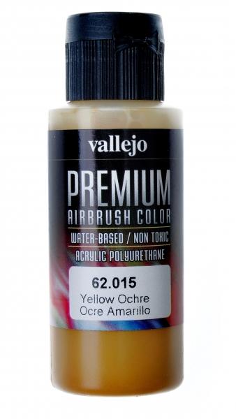 Краска акрил-полиуретановая ''Premium Color'', охра желтая Vallejo 62015
