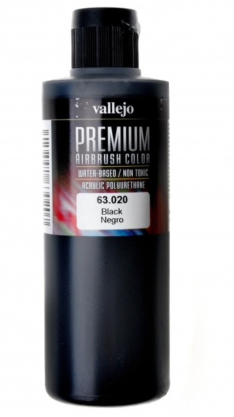 Краска акрил-полиуретановая ''Premium Color'', черный Vallejo 63020
