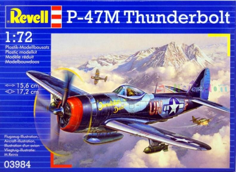 Истребитель-бомбардировщик P-47 M Thunderbolt Revell 03984