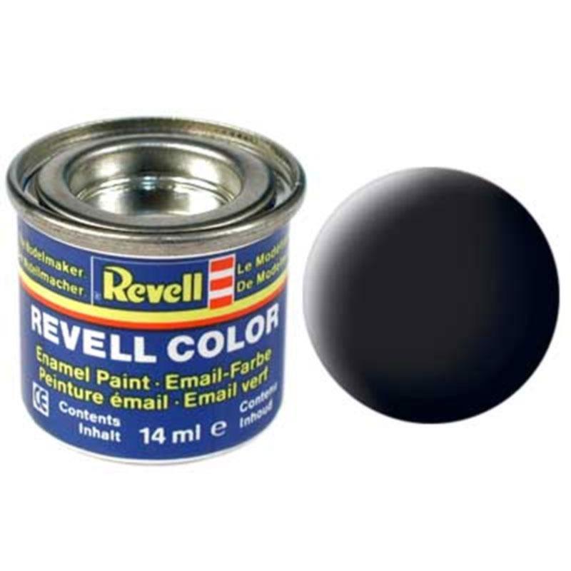 Краска  эмалевая, № 08 (черная матовая) Revell 32108