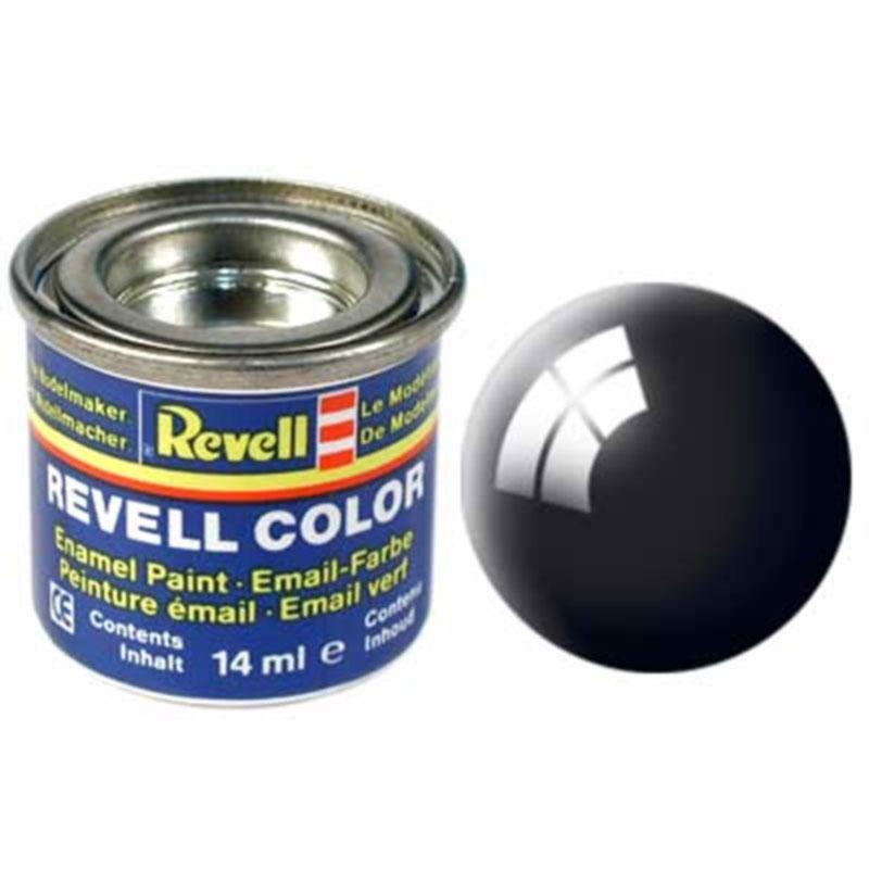 Краска  эмалевая, № 07 (черная глянцевая) Revell 32107