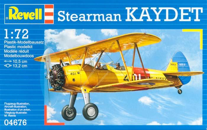 Учебно-тренировочный самолет Stearman PT-13D Kaydet Revell 04676