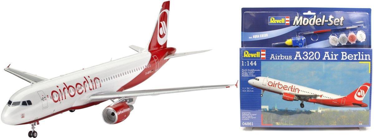 Подарочный набор с самолетом Airbus A320 Air Berlin Revell 64861