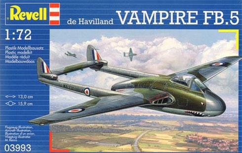 Истребитель Vampire Mk.I RAF Revell 03993