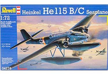 Гидросамолет Heinkel He 115 B/C Seaplane Revell 04276