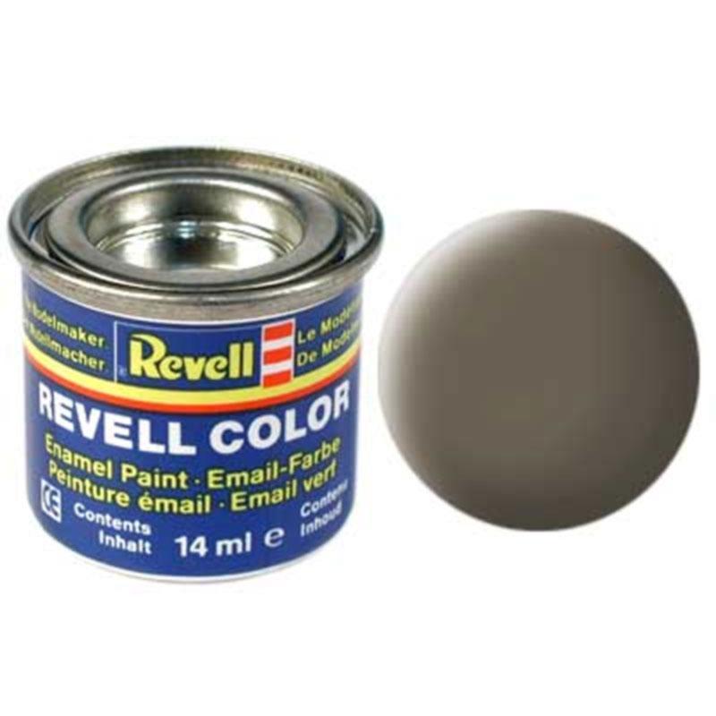 Краска  эмалевая, № 86 (хаки-коричневая матовая) Revell 32186
