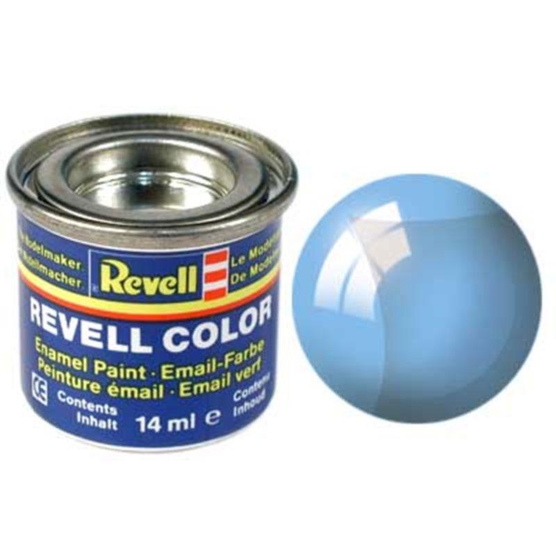 Краска  эмалевая, № 752 (синяя прозрачная) Revell 32752
