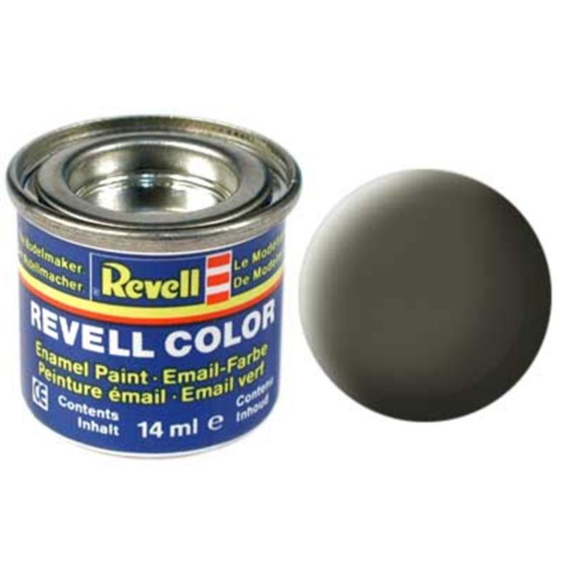 Краска  эмалевая, № 46 (оливковая под НАТО матовая) Revell 32146