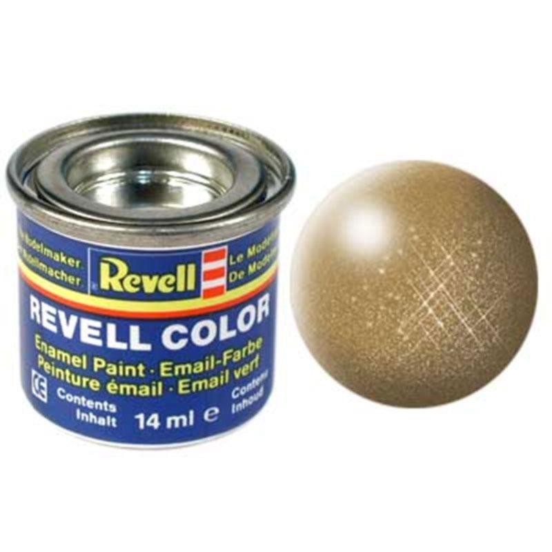 Краска  эмалевая, № 92 (цвета латуни, металлик) Revell 32192