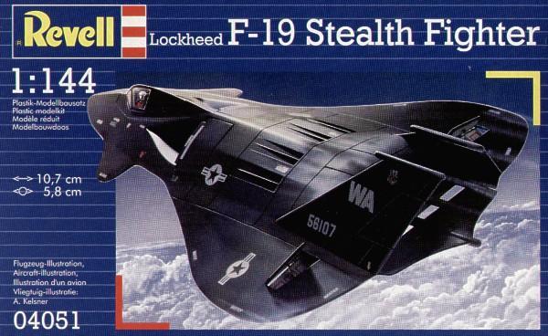 Истребитель Стелс F-19 Revell 04051