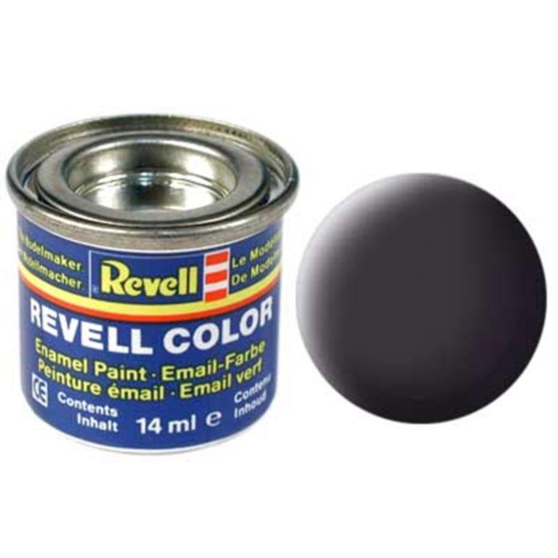 Краска  эмалевая, № 06 (черная как смола матовая) Revell 32106