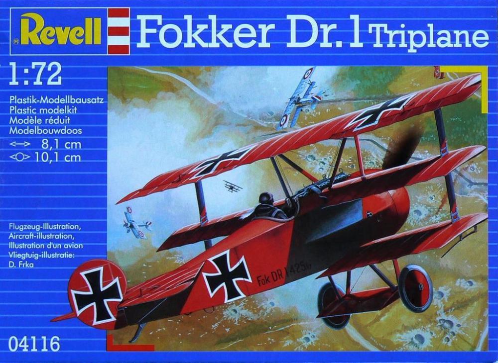 Истребитель Fokker DR. 1 (триплан) Revell 04116
