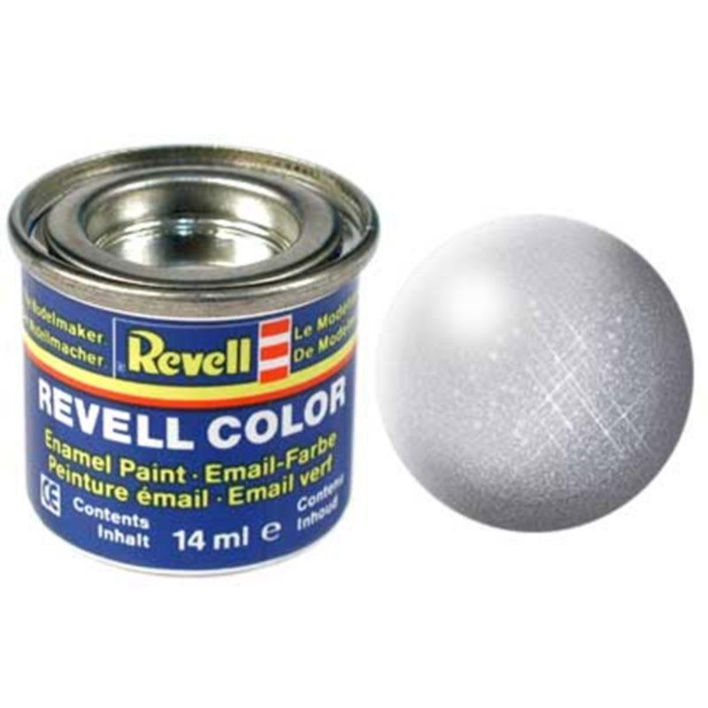 Краска  эмалевая, № 90 (серебряная металлик) Revell 32190