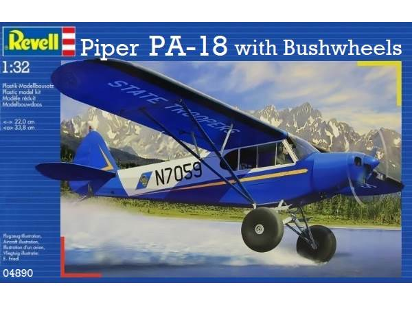 Самолет Piper PA-18 Revell 04890