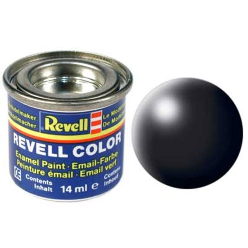 Краска  эмалевая, № 302 (черная шелковисто-матовая) Revell 32302