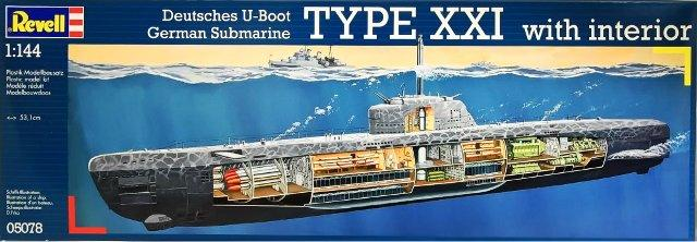 Подводная лодка U-Boat Type XXI with Interior Revell 05078